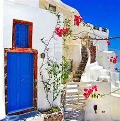 a door in Santorini - Bing Images