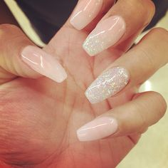 Coffin shaped acrylic gel nails  #nails