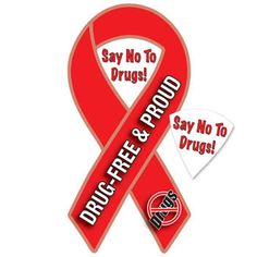 Red Ribbon Week: Say No To Drugs Magnet! Pack of 25 $15.00