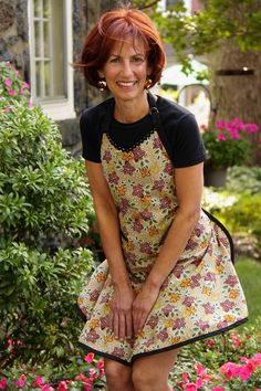 Flirty Hostess Wild Flowers Apron  Country Folk Art by cococtions, $28.00