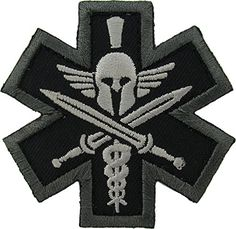 Tactical Medic Spartan Morale Patch (SWAT (Black)) MilSpec Monkey