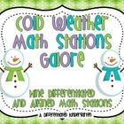 Cold Weather Math Stations Galore-Nine Differentiated and Aligned