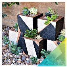 Hey stackable planters, we see you. You're functional, fit in small spaces, and are named quite appropriately. You can start stacking these stylish planters after only a few hours with some painter's tape and Modern Masters paint ✨ #DoItOusideDIY #SmallSpaceFacelift . #RustoleumCAN #DIY #DIYer #DIYProject #Balcony #BalconyDecor #BalconyDesign #BalconyGarden #OutdoorLiving Modern Masters, Balcony Design, Painters Tape, Best Budget, Balcony Garden, Metallic Paint, Small Spaces, Outdoor Living, Planter Pots