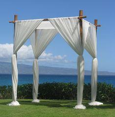 Maui Wedding Ideas - Bamboo Wedding Chuppahs at Beachfront Weddings