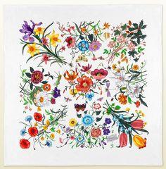Gucci Flora Print Scarf Celebrates Chelsea Flower Show
