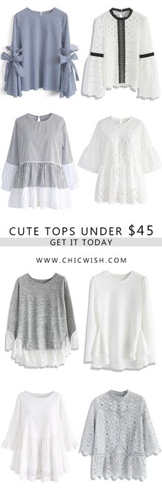 Summer/Fall Tops Under $45 Find more at CHICWISH.COM