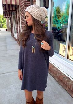 Comfy fall fashion.