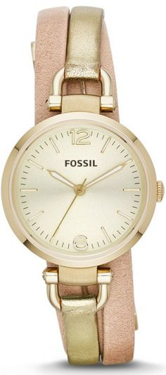 a965159ba69 Amazon.com: Fossil Women's ES3410 Georgia Gold/Rose Leather Watch: Fossil:  Watches