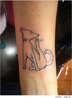 Wow! What a funny tattoo! Fleas and all.