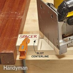 Cut slots in the stretchers for the Rennie Mackintosh end table. - Simple Rennie Mackintosh End Table Plans: http://www.familyhandyman.com/woodworking/projects/simple-rennie-mackintosh-end-table-plans/view-all
