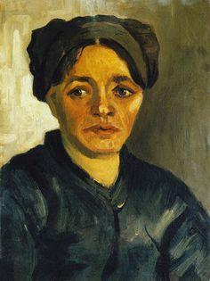 Vincent van Gogh - Kopf einer Bäuerin
