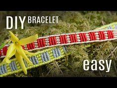 DIY Striped Bracelet Easy | Macrame School - YouTube