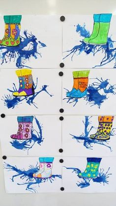 The Effective Pictures We Offer You About kindergarten art projects march A quality picture can tell Spring Art Projects, Spring Crafts, Art 2nd Grade, Grade 2, Classe D'art, Art For Kids, Crafts For Kids, Weather Art, Kindergarten Art Projects