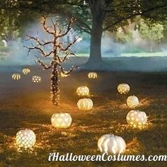 pumpkins lights for Halloween - Halloween Costumes 2013