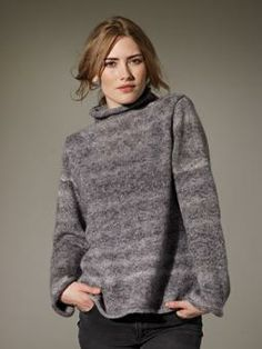 Marsh Oversized Sweater By Marie Wallin - Free Knitted Pattern With Website Registration - (knitrowan)