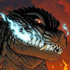 All Godzilla Monsters, Godzilla Comics, Godzilla 2, King Kong, Fantasy Creatures, Mythical Creatures, Original Godzilla, Godzilla Tattoo, Monster Pictures