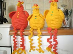 Crochet Chicken, Easter Crochet, Chrochet, Happy Easter, Diy And Crafts, Crochet Hats, Crafty, Quilts, Knitting