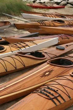 Amazing handmade wooden kayaks used for fishing and sport. Would love one of these!!!