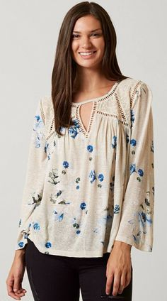 Floral Tops for Fall : Lucky Brand Floral Peasant Top | Buckle