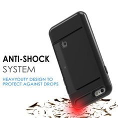 iPhone 6/6s Plus Case PunkCase CLUTCH Black Series for iPhone 6/6s Plus Slim Protective Armor Soft Cover Case w/ Tempered Glass Protector Lifetime Warranty      Made with a slim full TPU body for heat reduction and shock absorption.      Maintains the aesthetics of your phone while keeping it protected, with the option of a Credit Cards holder on the back     Ultimate protection with precision cut outs for easy access to all ports and jacks but without the bulkiness     Glass SHIELD 9H…