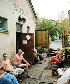 Rajaportin sauna is 100 years old public sauna in Pispala, Tampere | Photographer: Johannes Romppanen