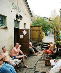Rajaportin sauna is 100 years old public sauna in Pispala, Tampere   Photographer: Johannes Romppanen