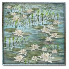 """""""Water Lilies"""" by debraelizabeth ❤ liked on Polyvore featuring art and waterlilies"""