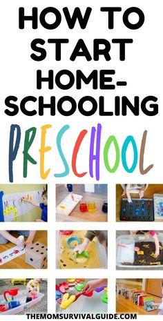 How To Start Homeschooling Preschool