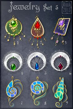 Jewelry Set 5 by Rittik-Designs on DeviantArt