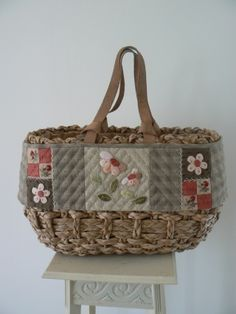 Very cute idea to dress up an existing bag.