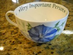 Royal Worcester Language Of Flowers Morning Glory VIP Cup