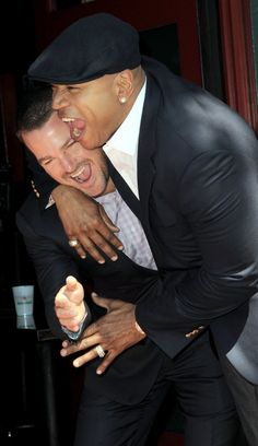 Pin for Later: Can't-Miss Celebrity Pics!  Chris O'Donnell and LL Cool J had a cute bro moment during Chris's Hollywood Walk of Fame ceremony in LA on Thursday.