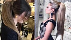 Cute Ponytail Hairstyles For Straight Hair - Easy ponytail hairstyles for straight Cute Ponytail Hairstyles, Cute Ponytails, Face Shape Hairstyles, Simple Ponytails, Ponytail Styles, Fringe Hairstyles, Older Women Hairstyles, Easy Hairstyles, Straight Hairstyles