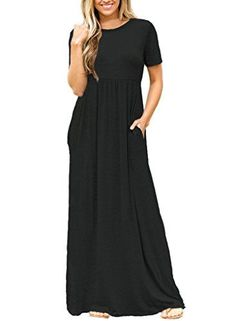 8e7d105eba8 online shopping for Dearlovers Women Short Sleeve Loose Plain Long Maxi  Casual Dress With Pockets from top store. See new offer for Dearlovers Women  Short ...