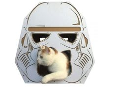 Stormtrooper's helmet-shaped cat house by Cacao Pets #homecrux