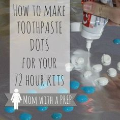 Mom with a PREP   Toothpaste dots were an idea someone came up with awhile back to have toothpaste on hand for camping and hiking. You have seen them all over Pinterest, right?  They take up little space, are almost weightless, are better than packing a tube of toothpaste that will inevitably burst and put toothpaste over the entire contents of your bag, no matter how many layers of plastic you have encased it in (Murphy's Law). But do they really work?