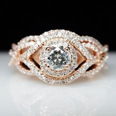 Diamond Rose Gold Engagement Ring - Wedding Stuff