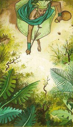 Ossãe, Ossanha, Osanyin ou Ossain. Orixá das folhas sagradas, conhece o segredo de todas elas. Junto com Oxóssi, protege as matas e os animais.