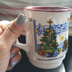 One of my favorite souvenir mugs is from a solo trip to Vienna during the Christmas season #storybehindthecup #cupofjoe #coffeelover #coffeemug #coffeecup #vienna #wien #christkindlmarkt #christmasmarket