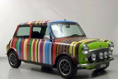 Eighty-six stripes and twenty-four colours? It could only be the iconic Paul Smith Mini, 1998. designer-mini