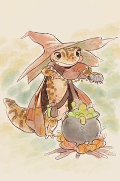 "fyeahleopardgeckos: "" mackaroon: "" gecko witch Commission, please don't use, repost, etc "" OKAY BUT I LOVE THIS "" Fantasy Concept Art, Fantasy Character Design, Character Design Inspiration, Character Concept, Character Art, Fantasy Art, Dungeons And Dragons, Skyfall, Cute Reptiles"