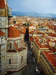 Via dell'Oriuolo e piazza Duomo
