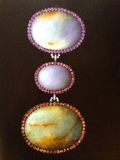 JAR - Pendant Brooch, jade, garnets, sapphires, spinels, tourmalines, diamonds, silver and gold.