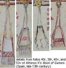 Simple String-Drawn Bags, 13th c. Spanish