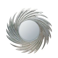 WAVE MIRROR by Fine Mod Imports Decorative Wall Mirror will attract instant attention from anyone walking into the room. It is sure to make a statement in your home. Features: Resin Frame Silver Paint Finish Dimensions: x x Autorized Dealer Mirrored Furniture, Acme Furniture, Bedroom Furniture, Round Wall Mirror, Floor Mirror, Silver Sunburst Mirror, Showcase Design, Beveled Glass, Kunst