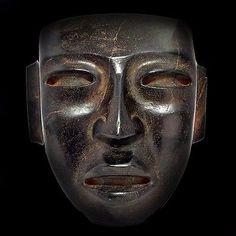 Teotihuacan Stone Mask Figure Statue Antique Pre Columbian Artifact Olmec Toltec