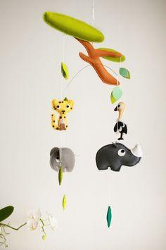 """Mobile - Mobile """"Safari"""" - ein Designerstück von stierkind bei DaWanda"""