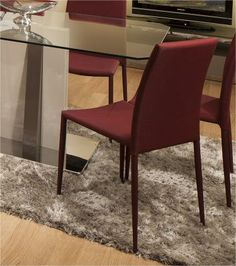 Clara Dining Chair in Purple, Grey or Red