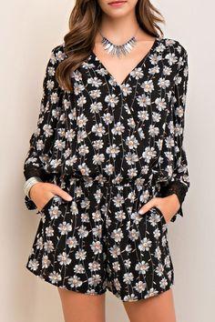 ab4df766b0d Entro Floral Wrap Style Romper. Print WrapWrap StyleJumpsuits For WomenLace  ...