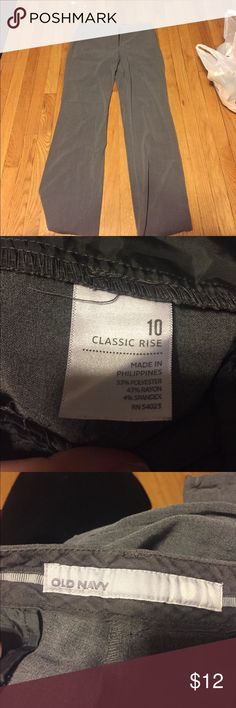 Old Navy Gray Dress Pants Old Navy gray dress pants, size 10. Used but in good condition. Old Navy Pants Boot Cut & Flare